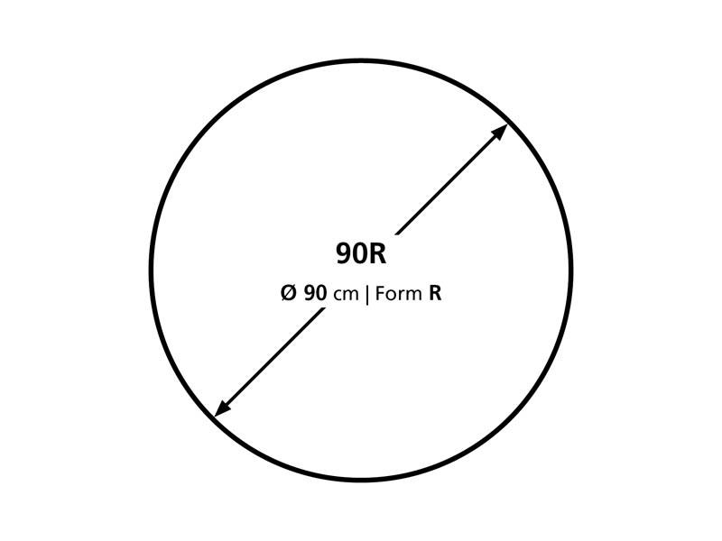 Podložka na podlahu BSM R 90 cm