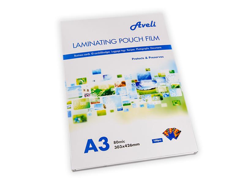 Laminovací fólie AVELI A3/160mic (2x80),lesklé