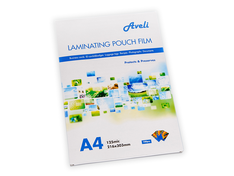 Laminovací fólie AVELI A4/250mic (2x125), lesklé