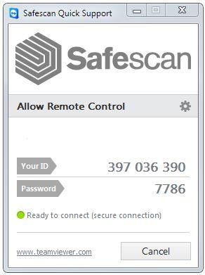 Vzdálená podpora Safescan