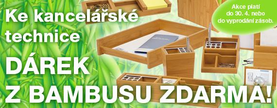 Krásné bambusové doplňky na pracovní stůl jako DÁREK